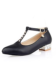 Women's Shoes Pointed Toe Low Heel Pumps with Buckle Shoes More Colors Available