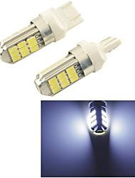 carking ™ 12v 7443 5630smd 27led автомобиль задний противотуманный свет лампы белого света (2шт)