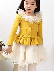 девушки новый осенний корейских девушек хлопка с длинным рукавом детские пальто цветы