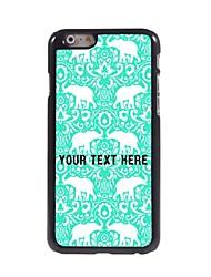 caso de telefone personalizado - elefante caso design de metal para o iPhone 6