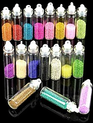 18 Colors Glass Bottled Nail Art Decoration