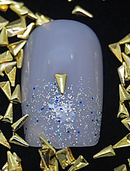 100pcs Dreieck goldenen Metallniete Nagelkunstdekoration