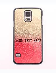 caso de telefone personalizado - gota vermelha do design caixa de metal água para samsung galaxy s5