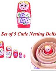 neewer® набор 5 Cutie матрешки матрешки безумие России кукла