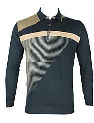 Men's Diamond Three Color Joint Cotton Long Sleeved Shirt