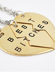 Men's Women's Pendant Necklaces Alloy Love Initial Jewelry European Fashion Adjustable Jewelry For Daily Casual
