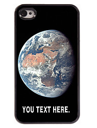 Personalized Case The Earth Design Metal Case for iPhone 4/4S