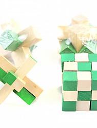 quebra-cabeça jogo de desbloqueio de madeira caixa de 4 peças terno