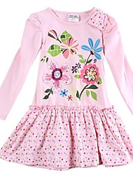Girl's Pink Dress Cotton Winter / Spring / Fall