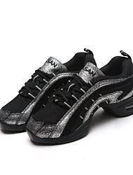 zapatillas de baile zapatos de baile bajo talón de las mujeres partidas individuales