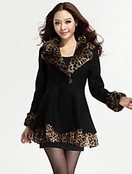 Ai.Te Women's European Fashion Elegant Cheap Leopard Coat