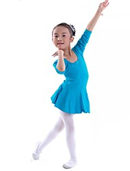 Kids' Dancewear Dresses Children's Training Cotton Fuchsia / Light Blue / Pink Ballet Long Sleeve Natural Princess