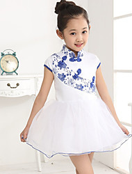 Girl's Dress,Floral Chiffon Summer