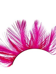 Loose Fuschia Feather Carnival Eyelashes