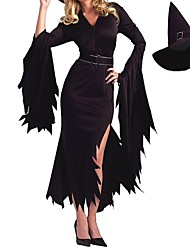 Cosplay Costumes / Party Costume Angel/Devil / Movie/TV Theme Costumes Festival/Holiday Halloween Costumes Black Solid Dress / Belt / Hat