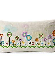 Sunny Day Cotton/Linen Decorative Pillow Cover