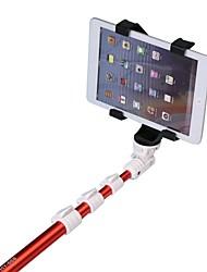 álamo-668 hy monopie de mano con soporte para el teléfono móvil y el clip del iPad para el teléfono móvil