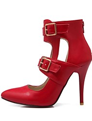 Women's Shoes Pointed Toe Stiletto Heel Pumps Shoes with Buckle Zipper More Colors available