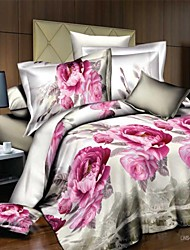3D(random pattern) Polyester 4 Piece Duvet Cover Sets