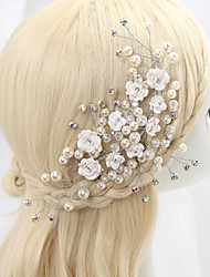 Women's/Flower Girl's Crystal/Alloy/Imitation Pearl/Cubic Zirconia Headpiece - Wedding/Special Occasion Flowers
