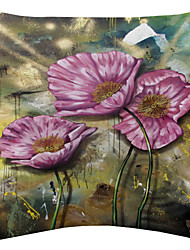 песчаная буря и яркие цветы бархат декоративная подушка крышка