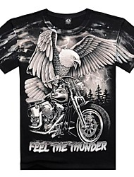 Men's Short Sleeve T-Shirt , Cotton Sport Print