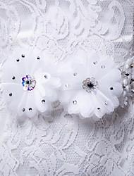 Faixa Cetim/Cetim/Tule Faixas para Mulheres Casamento/Festa/Noite Pedraria