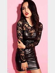 m&sexy robe de dentelle mince de femmes d