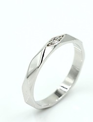 Women's Silver Alloy Fashion Wedding Rings