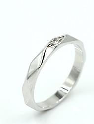 Women's Silver Alloy Fashion Wedding Rings
