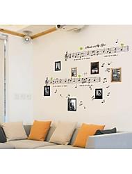 stickers muraux stickers muraux, style notes magnifiques murales de pvc autocollants