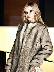 Fur Jacket Fashion Long-Sleeved Faux Fur Jacket For Women