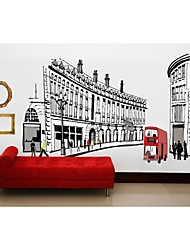 Wall Stickers Wall Decals, Style Streets Of Rome PVC Wall Stickers