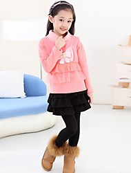 мода сладкий лук хлопка толщиной блузка девушки