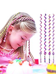 6Pcs 24cm Violet Children's Curly Hair Rope