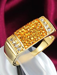 Fashion Deluxe 18k Gold Plated Alloy Statement Rings(1pc)