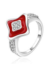 star de la mode anneau forme cz européen et américain (plus de couleurs)