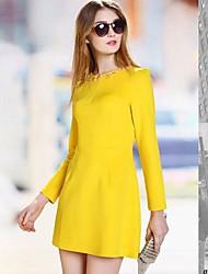 BAOTU®Women's round neck long sleeve dress