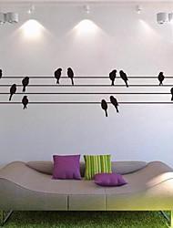 adesivos de parede decalques da parede, postes e paredes aves etiquetas