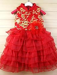 vestido de princesa vestido velo soplo chaleco rojo nueva llegada nuevo año falda traje de espiga niñas vestido de princesa tutu