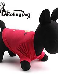 Katzen / Hunde T-shirt Rot / Rose Hundekleidung Frühling/Herbst Herzen