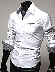 мужской новый корейский уникальный полоса хит цвет самосовершенствование рубашка