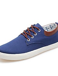 Men's Shoes Casual Canvas Fashion Sneakers Black/Blue/Gray
