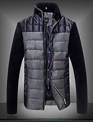 moda masculina pé da gola casuais casaco fino