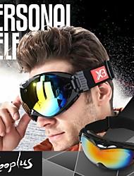 kooplus unisex schwarzen Rahmen pc Doppel Anti-Fog-Objektiv winddicht Anti-UV Skibrille