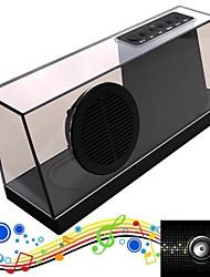 mais novo mini alto-falante Bluetooth som wireless Crysral portátil de áudio estéreo com sardinha fm mic tf rádio usb 1800mAh