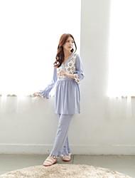 bearsland maternidade de algodão de impressão floral topos sleepwear grávidas com calças europeu desgaste estilo pijama amamentação