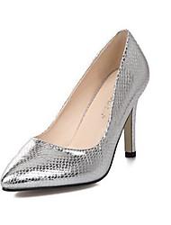 Scarpe Donna - Scarpe col tacco - Formale / Serata e festa - Tacchi / A punta - A stiletto - Finta pelle - Nero / Argento
