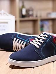 sapatos masculinos oxfords confortar poliéster calcanhar Flat Shoes mais cores