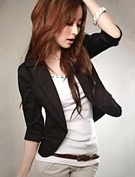 Women's Pink/White/Black/Green Blazer , Casual Long Sleeve